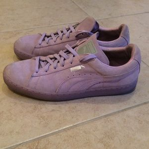 Puma Suede Classic Lavender Sneakers Shoes Size 11